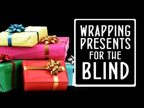Blind Life Hack ~ Wrapping Presents For The Blind