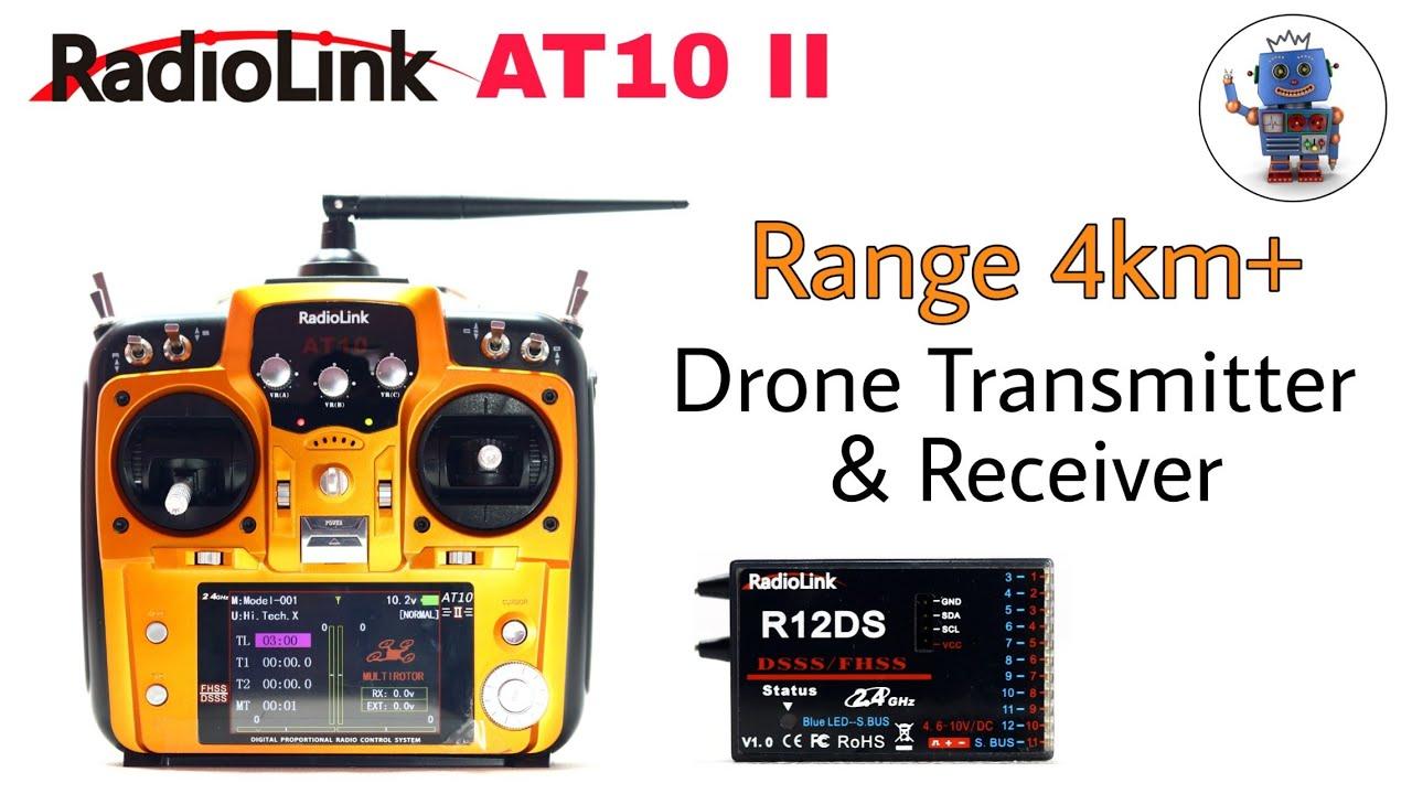 Radiolink AT10  transmitter || 4- km Range Drone Transmitter & Receiver || Hi Tech xyz