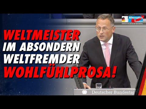 Weltmeister im Absondern weltfremder Wohlfühlprosa! - Peter Felser - AfD-Fraktion im Bundestag