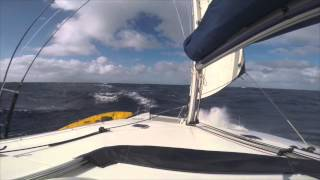 Lagoon 440 Sailing FORCE 8 Winds
