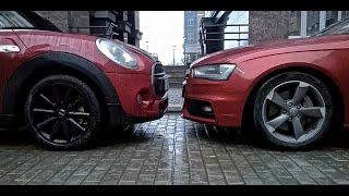 mini cooper s 5 door f55 0 100 km h 0 60 mph vs audi a4 b8 quattro 0 100 km h 0 60 mph