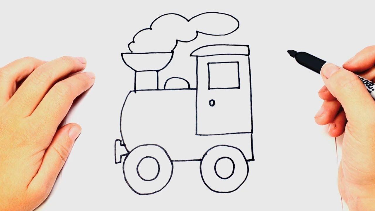 Como Dibujar Un Tren O Locomotora Paso A Paso
