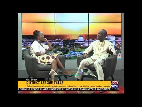 District leaque table - AM Show on Joy News (26-11-15)