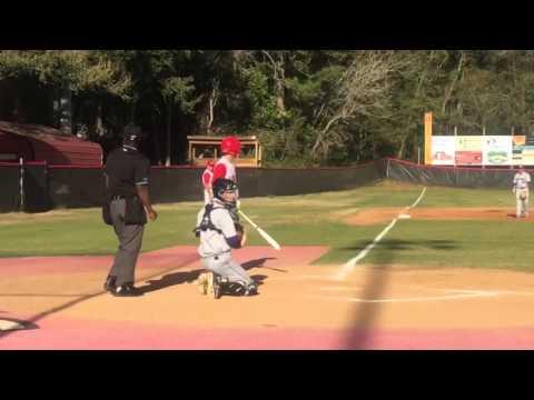 Glenn batting right handed at Leon