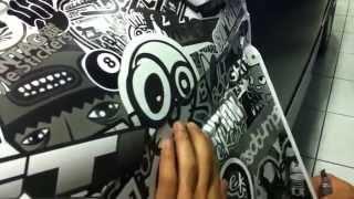 Как обклеить крыло автомобиля стикерами - наклейки StickerBomb