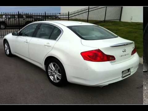 2011 infiniti g37 sedan white knoxville tn youtube. Black Bedroom Furniture Sets. Home Design Ideas