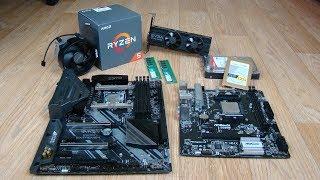 Посылка с ComputerUniverse - Ryzen 1600 и Core i5 8600k и прочее.