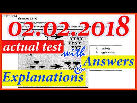 IELTS LISTENING PRACTICE TEST 2018 WITH ANSWERS | 02.02.2018