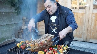 Целый 5 килограмма говядины на мангале. Рецепт от Жоржа.