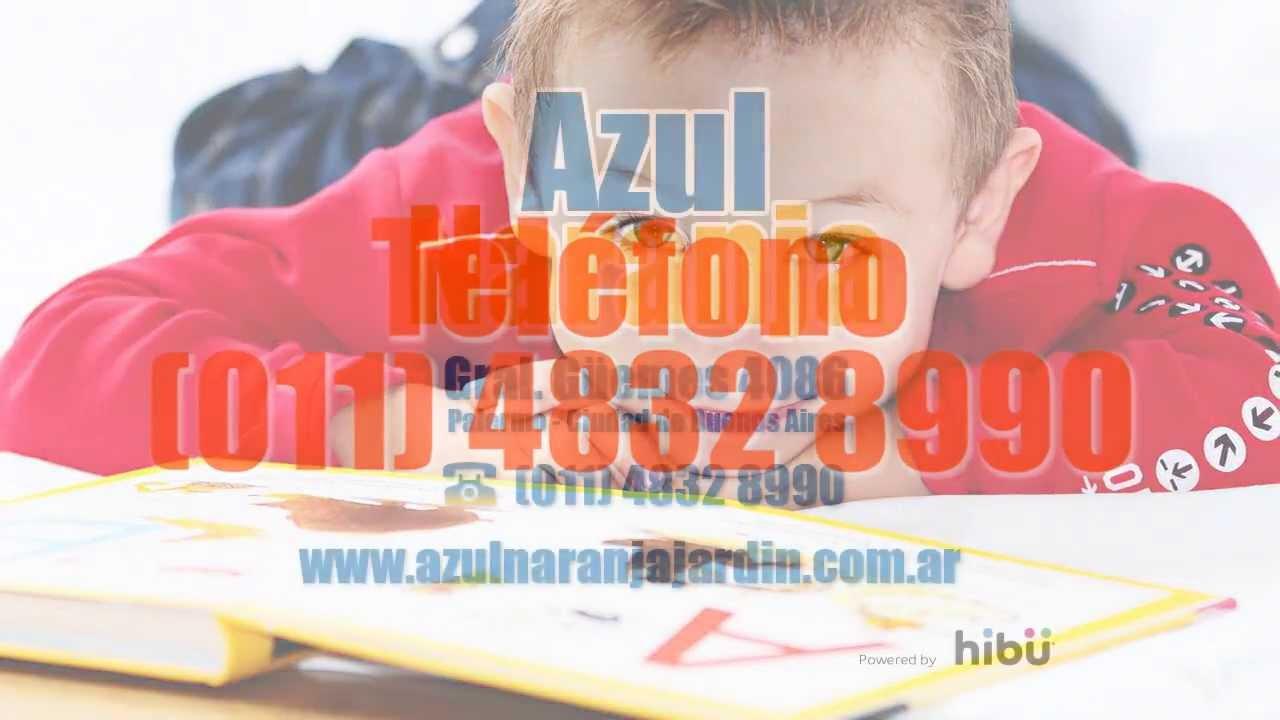 azul naranja jardin de infantes youtube