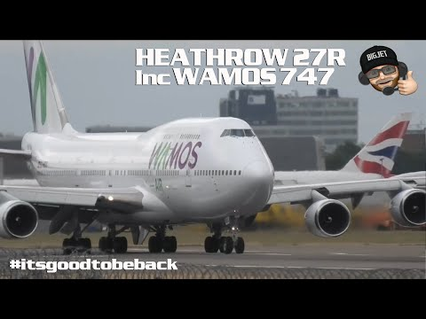 Planespotting At London #Heathrow Airport Including Wamos 747 And TUI 787 Rare Visitors