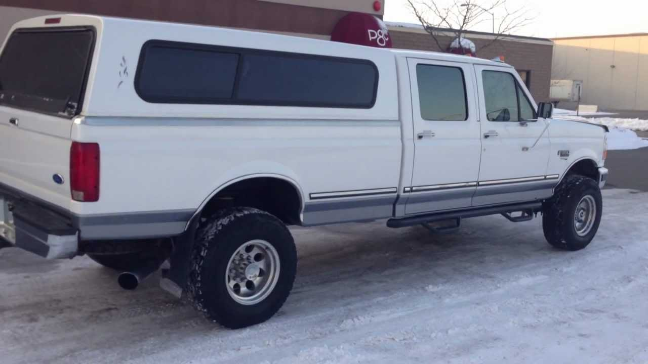 1997 FORD F350 CREW CAB LONGBED XLT 4X4 7.3 POWERSTROKE TURBO DIESEL - FOR SALE - YouTube