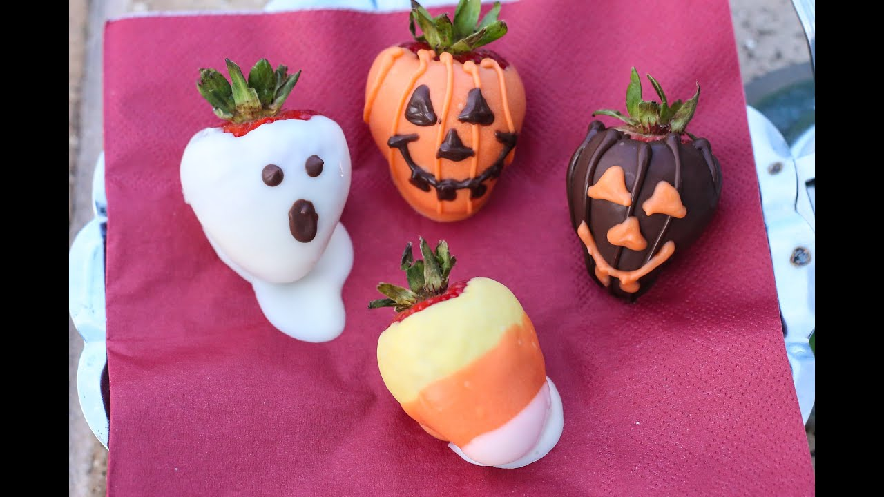 How To Make Halloween Chocolate Covered Strawberries