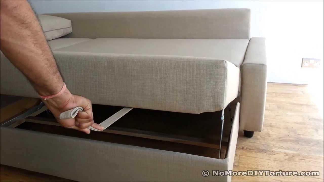 IKEA Sofa Bed Chaise Lounge Storage Design  FRIHETEN
