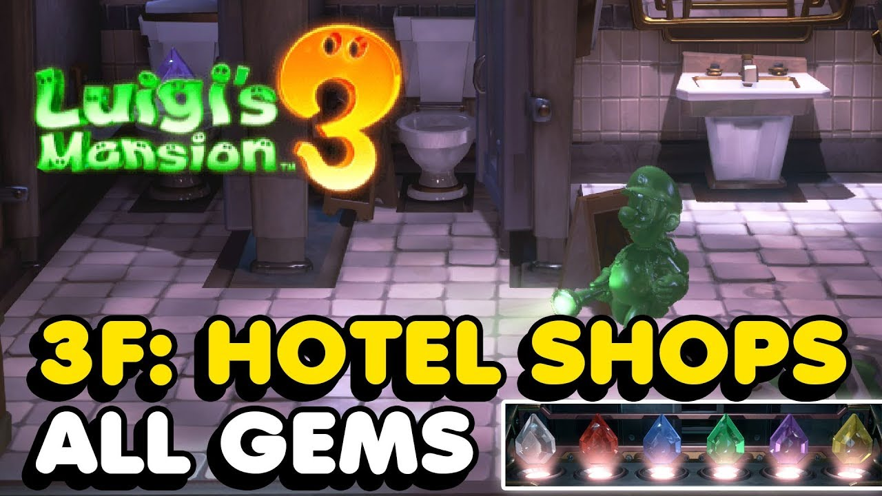 Luigi S Mansion 3 3f Hotel Shops All Gems Locations Guide