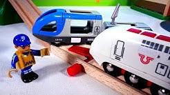 Autojen ja kuormurien tarinat. Lasten Brio-lelut. Leikkivideo lapsille.