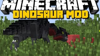 Minecraft: DINOSAURS MOD (T-Rex, Mammoths and many more) Showcase - Brothers Minecraft