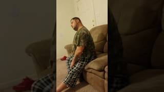 Husband sleeping on couch crazy snoring