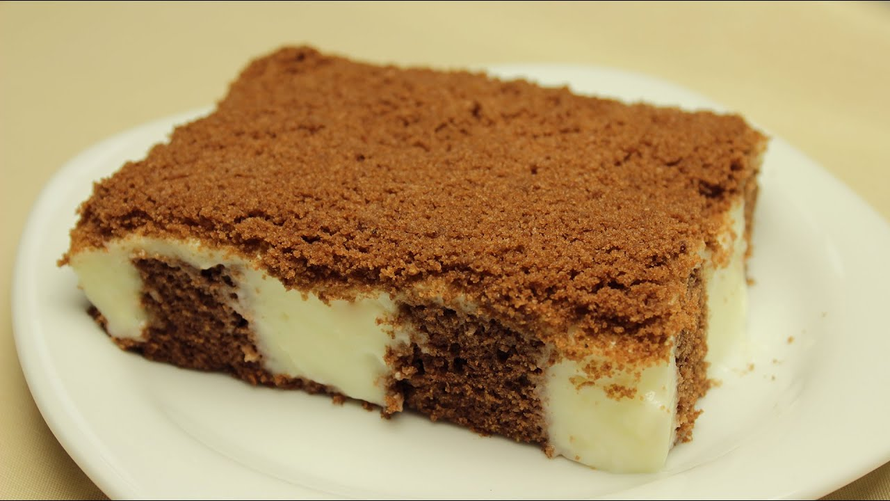 Chocolate Cake With Vanilla Pudding Filling Youtube