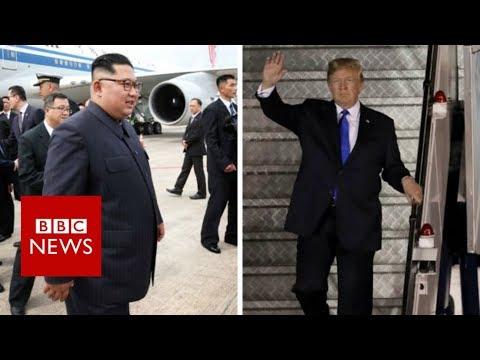 Trump-Kim summit: US and North Korea leaders arrive - BBC News