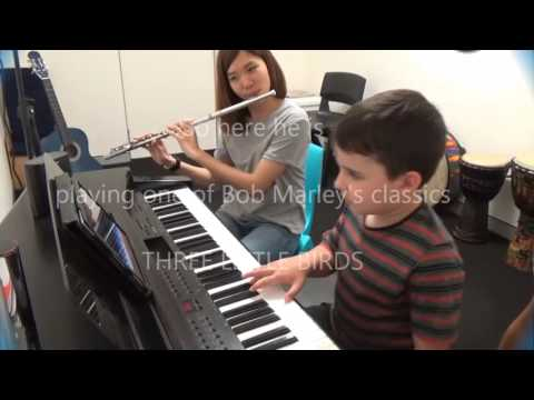 Awesome Achievements - Alex playing Bob Marley's Three Little Birds on the piano