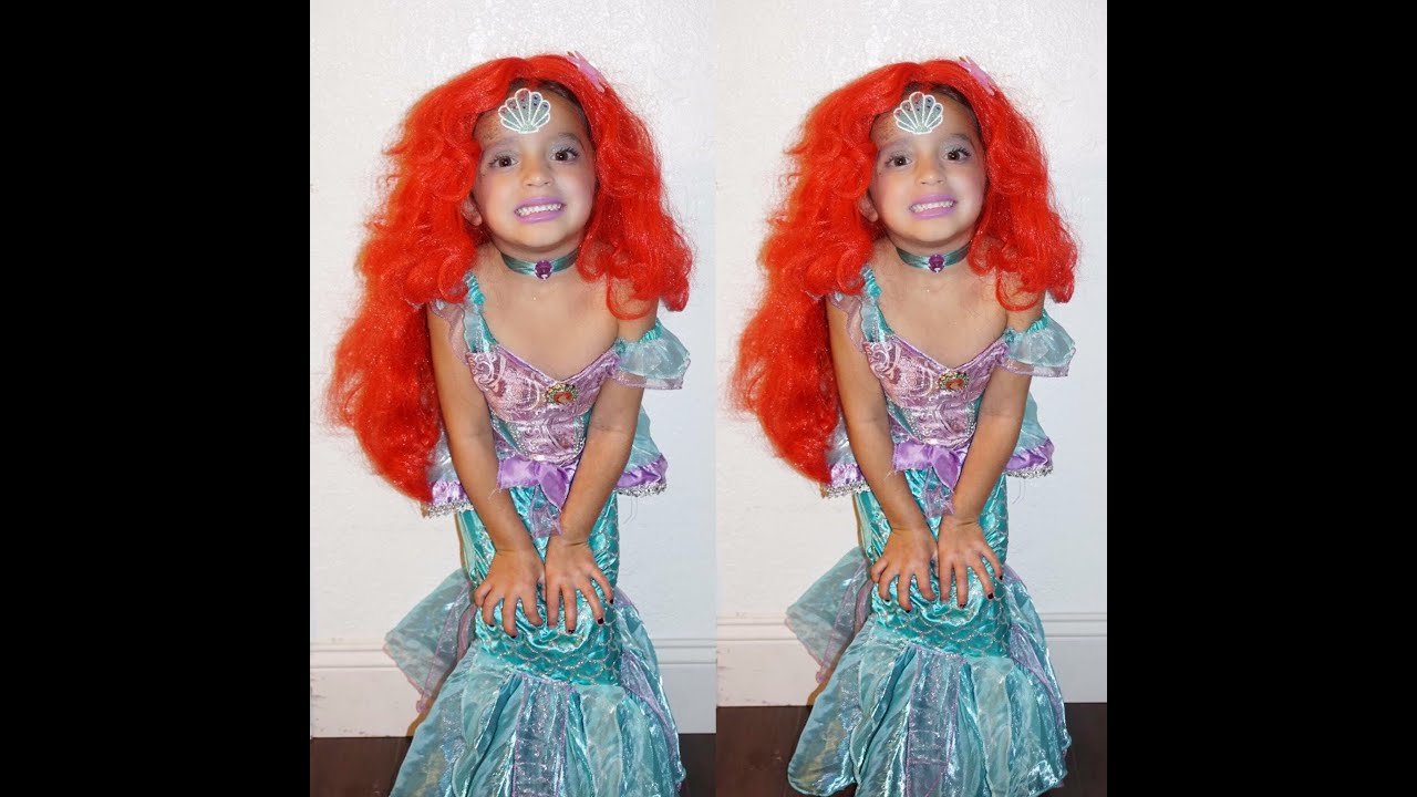 mermaid ariel makeup for kids - youtube