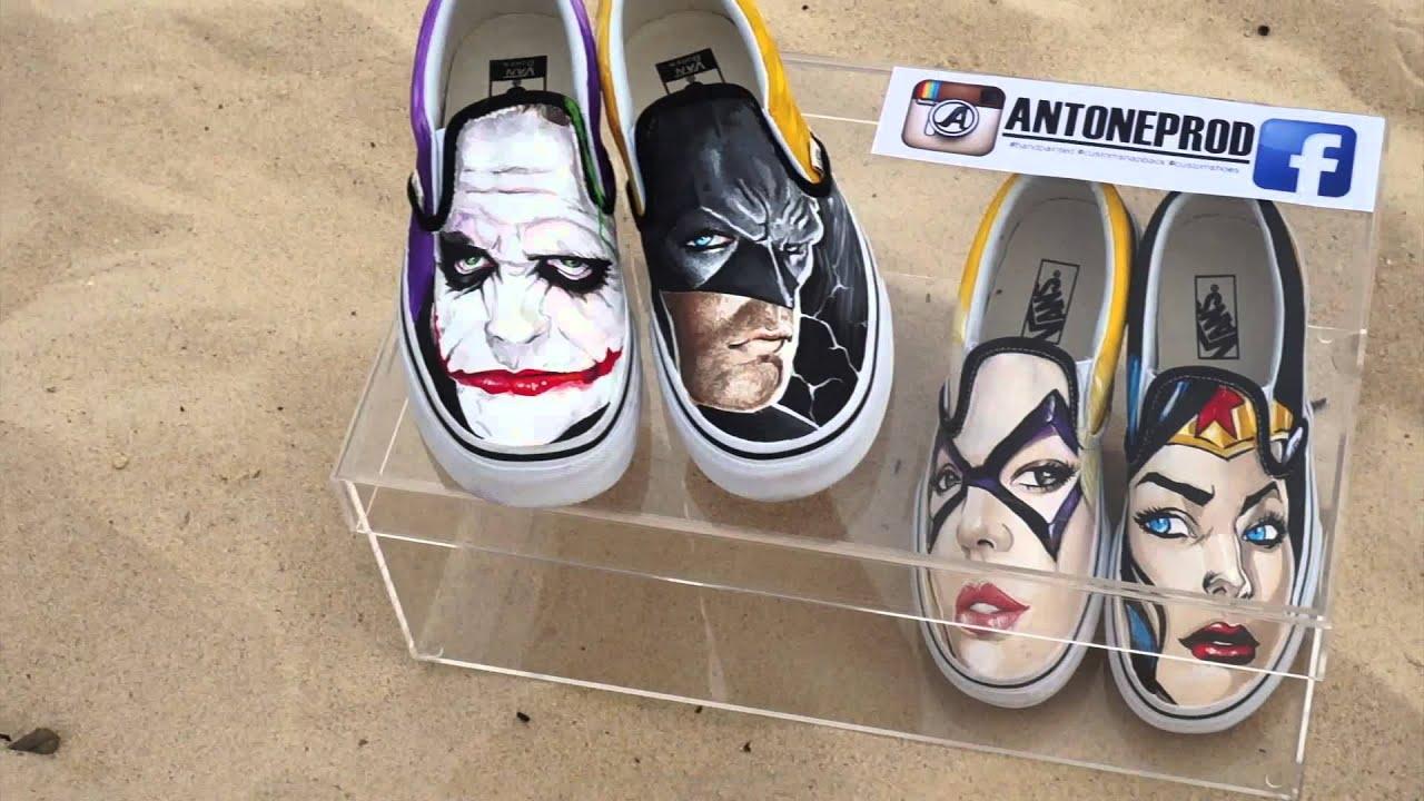 42b4e6149db7 Handpainted custom shoes by ANTONEPROD - YouTube