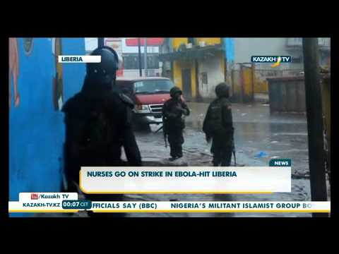 Medical nurses go on strike in Liberia.