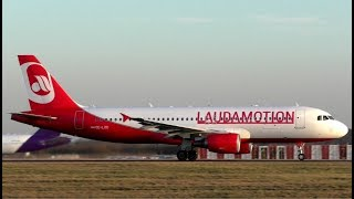 Laudamotion Airbus A320 Action at London Stansted Airport