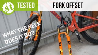 What is fork offset? | Testing The Santa Cruz Blur With 44 & 51mm Fork Offsets