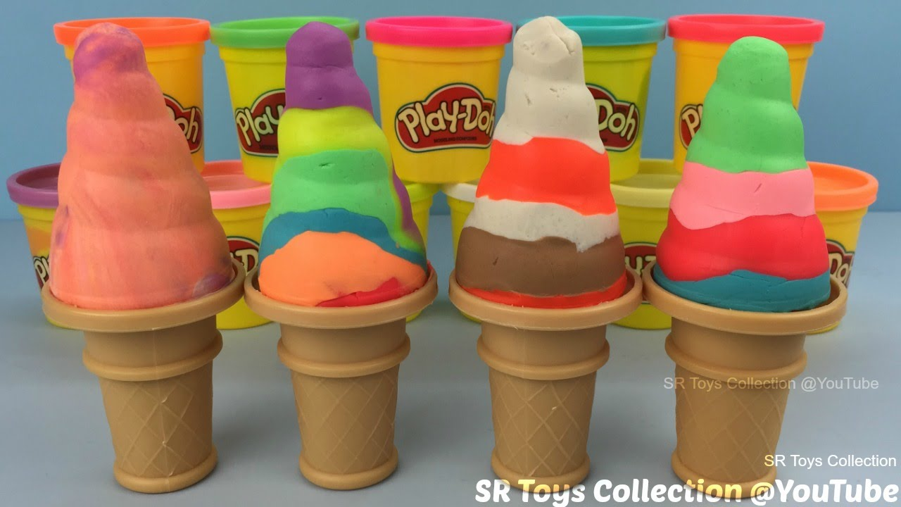 How to make play doh soft serve ice cream with molds fun and how to make play doh soft serve ice cream with molds fun and creative for kids ccuart Choice Image