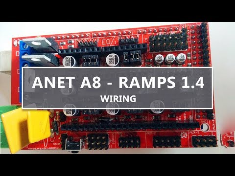RAMPS 1.4 wiring for the ANET A8