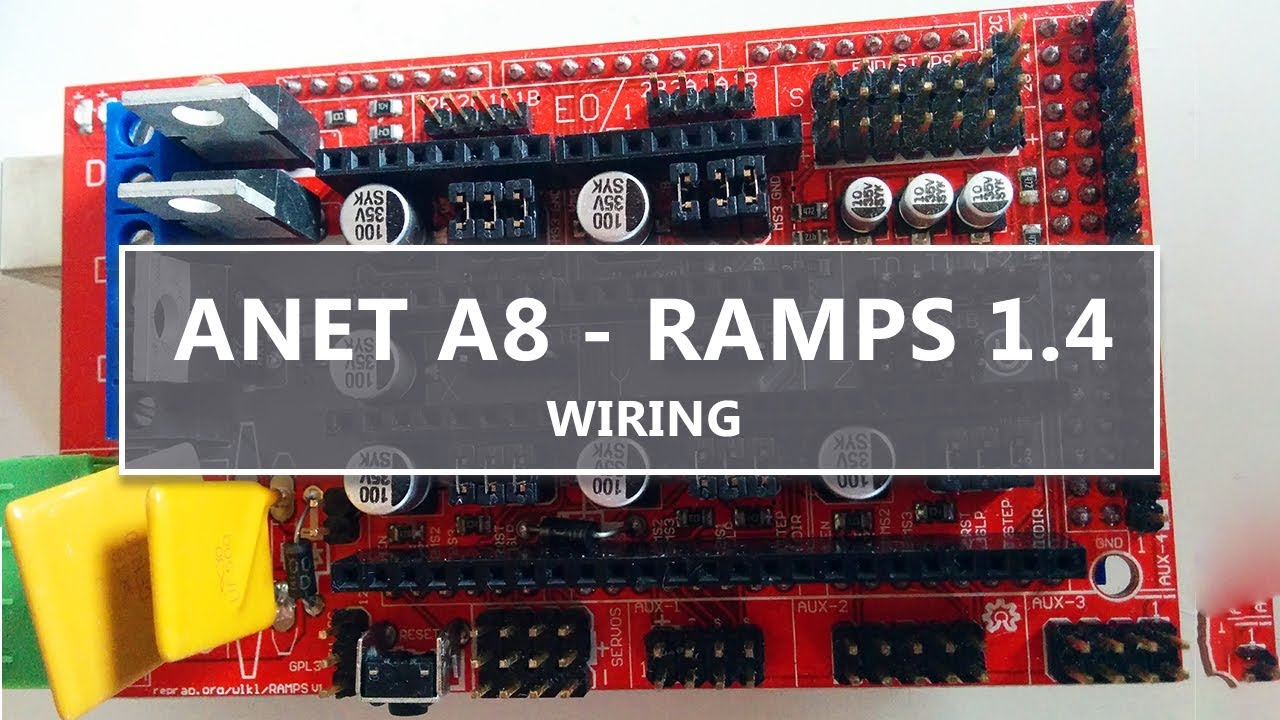 RAMPS 1.4 wiring for the ANET A8 - YouTube