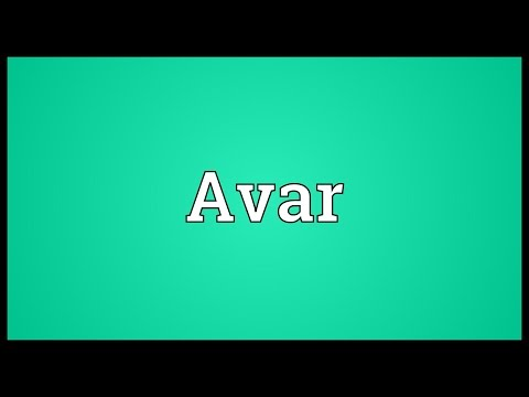Avar Meaning