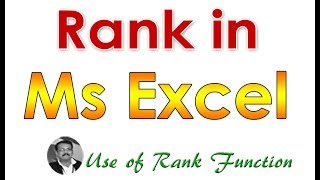 Rank Function in Excel Malayalam