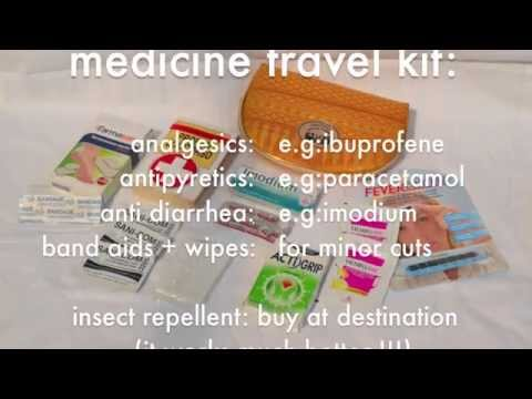 Medicine travel kit, be prepared for any emergency on your trip!