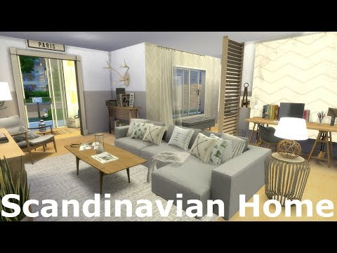 The Sims 4: Speed Build - Scandinavian Home / WITH CC LINKS