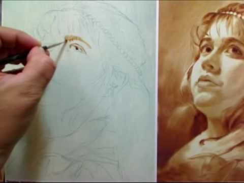 Portrait in classical oil painting technique by alexei for Portrait painting tutorial