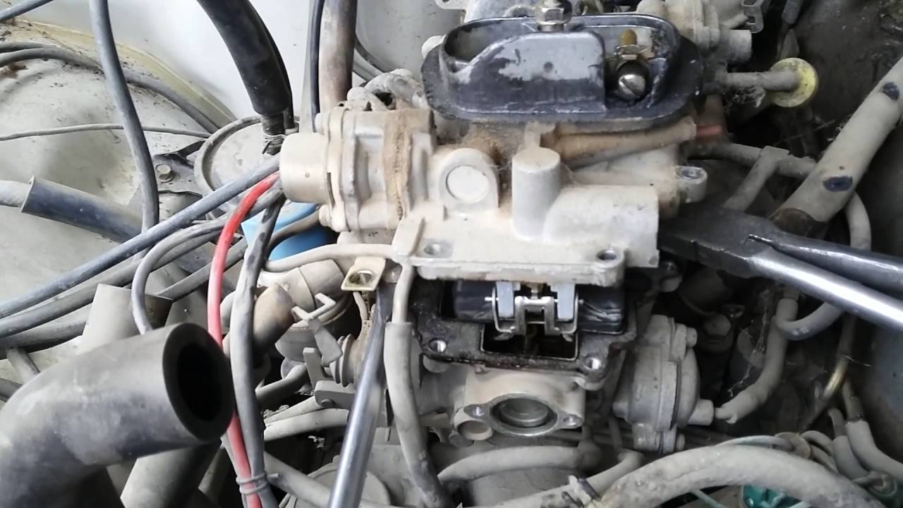 small resolution of 1984 toyota 22r carburetor flooding quick fix