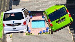 Süper Ticari Arabalar Zor Havuz Parkurunda