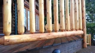 Cedar Log Railings