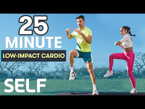 25-Minute Low-Impact, High-Intensity Cardio Workout | Sweat with SELF | SELF