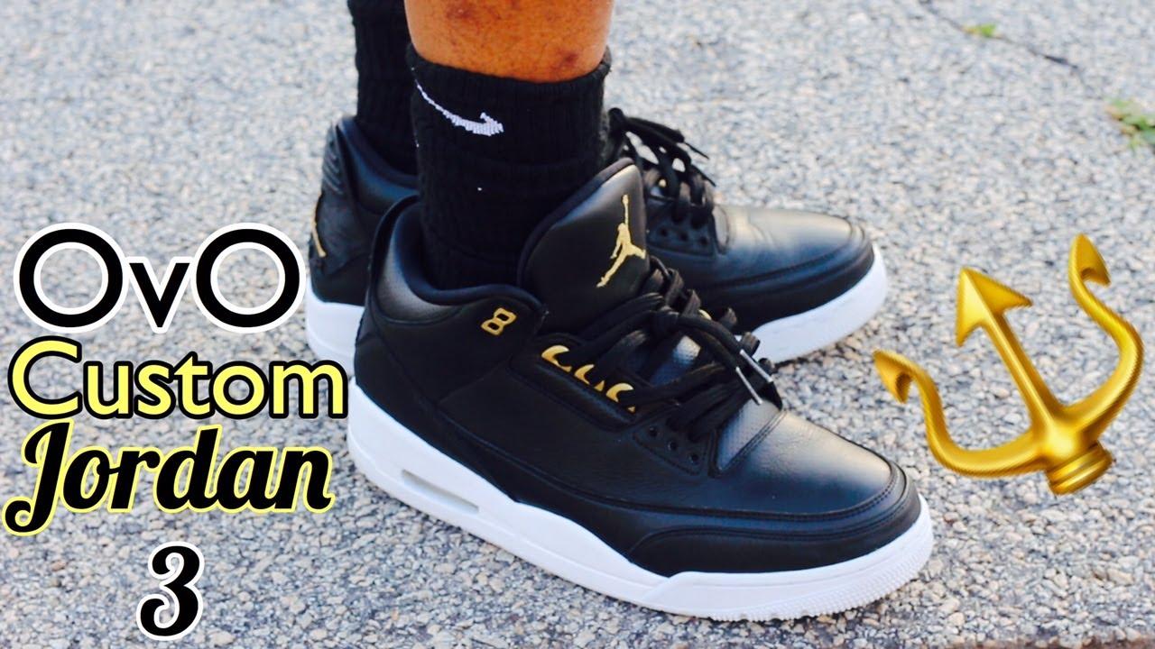 17732acc404b Custom Jordan 3 OVO On-Foot