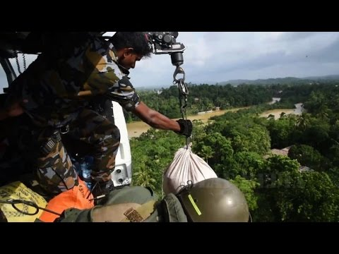 AFP news agency: Aerial footage shows Sri Lanka flood as toll climbs to 177