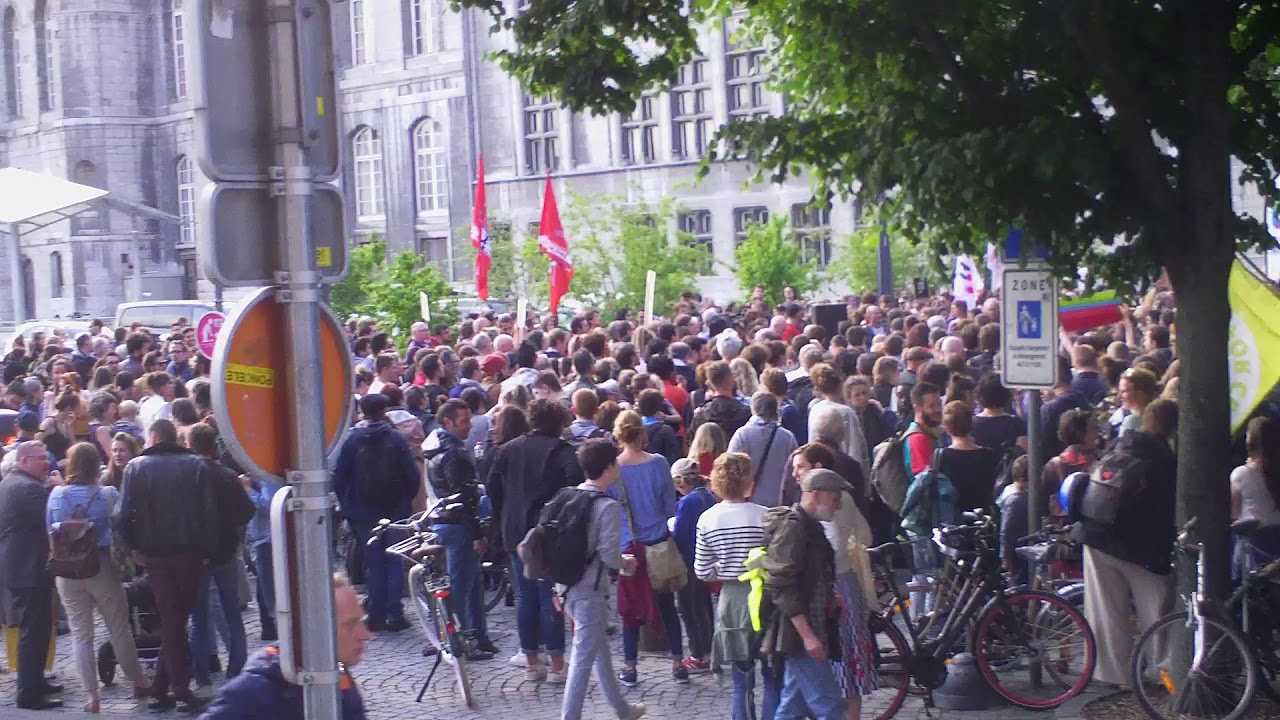 Rassemblement anti-fasciste 29 mai 2019 à Liège vu de la Violette
