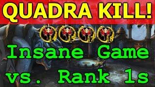 QUADRA KILL! - Crazy Game vs. Rank 1 KFC! WoW Legion Feral Druid 3v3 Arena PvP