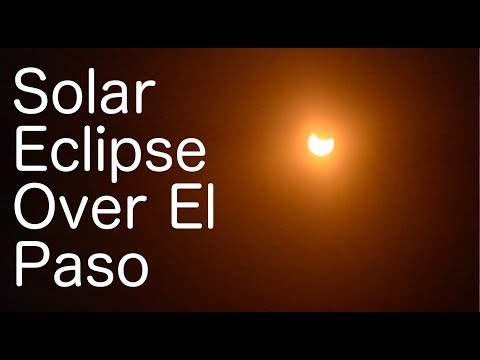 Solar Eclipse, August 21, 2017 -- Time Lapse from El Paso (2,000% Speed)