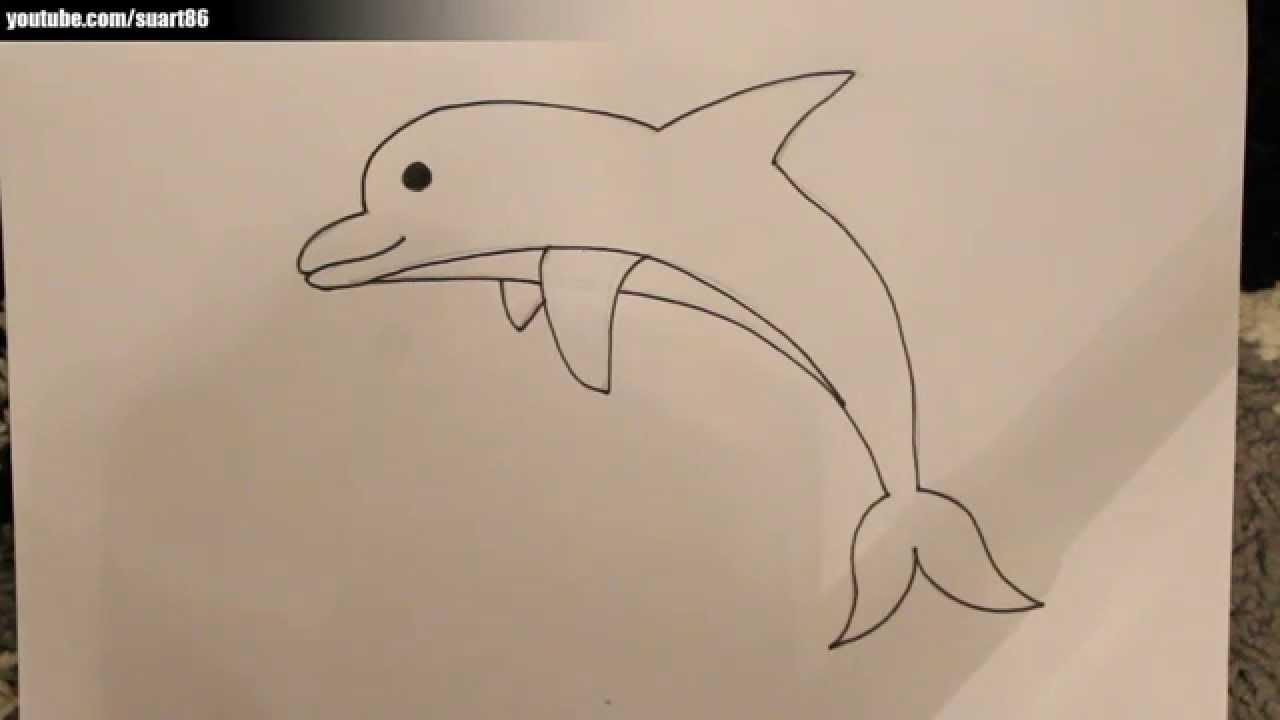 Como dibujar un delfin  YouTube