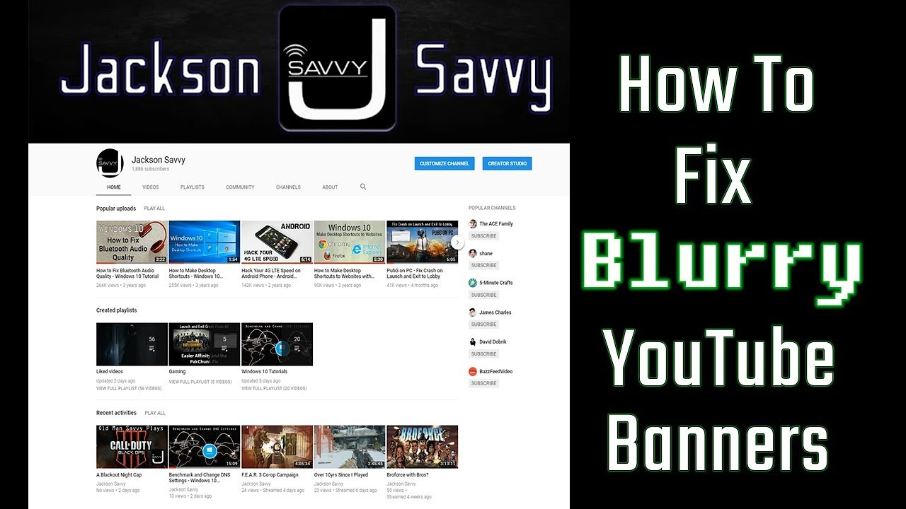 How to Fix Blurry YouTube Banners