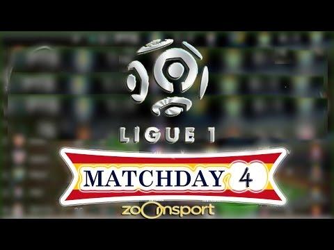 Ligue 1 - schedule fixtures matchday 4 - 2016/17